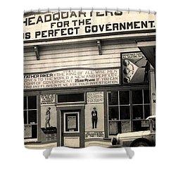 Holy City World Government Santa Clara County California 1938 Shower Curtain