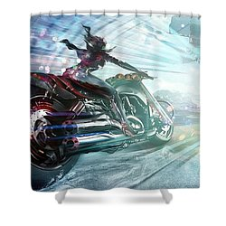 Holy Crap That Is Fast. Shower Curtain