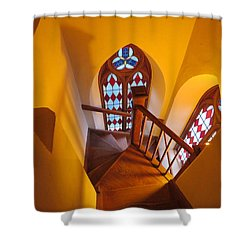 Holy Cross Staircase Shower Curtain