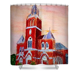 Holy Family Church Shower Curtain