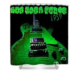 Shower Curtain featuring the photograph Holy Grail 1959 Retro Relic Guitar by Guitar Wacky