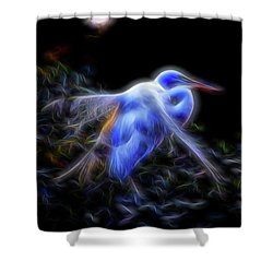 Holy Guardian Angel Shower Curtain by William Horden
