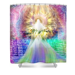 Holy Holy Holy Shower Curtain by Dolores Develde