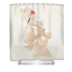 Shower Curtain featuring the mixed media Holy Light by TortureLord Art