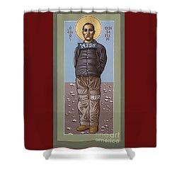 Holy Prophet Benjamin Salmon 083 Shower Curtain