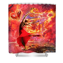 Holy Spirit Fire Shower Curtain