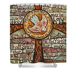 Holy Spirit Prayer By St. Augustine Shower Curtain