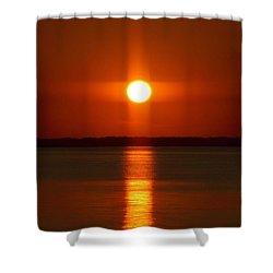 Holy Sunset - Portrait Shower Curtain by William Bartholomew