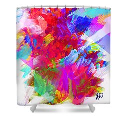 Holy Town Shower Curtain by AC Williams