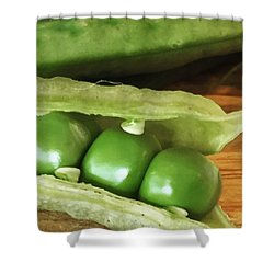 Peas Shower Curtain