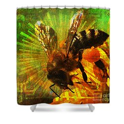 Homage To A Bee 2015 Shower Curtain