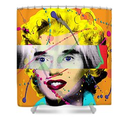 Homage To Warhol Shower Curtain