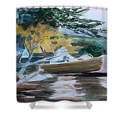 Homage To Winslow Homer Shower Curtain by Mindy Newman