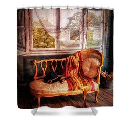 Home  At Last ... Shower Curtain by Chuck Caramella
