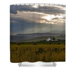 Home By The Sea Scotland Shower Curtain