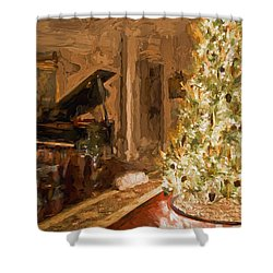 Home For Christmas Shower Curtain