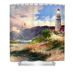 Home For The Night Shower Curtain