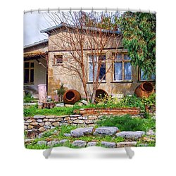 Shower Curtain featuring the photograph Home In Greece by Roberta Byram