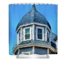 Home In Winthrop By The Sea Shower Curtain