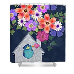 Home Is Where You Bloom Shower Curtain