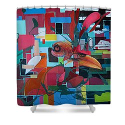 Home Of The Chicken Shower Curtain