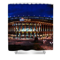 Home Of The Mets Shower Curtain by James Kirkikis