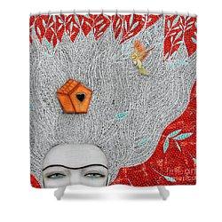 Home On My Mind Shower Curtain by Natalie Briney