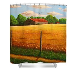 Home On The Farm Shower Curtain