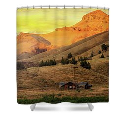 Home On The Range In Antelope Oregon Shower Curtain by David Gn