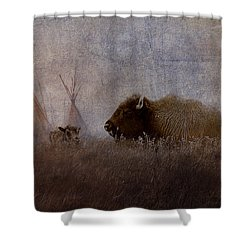 Home On The Range Shower Curtain by Ron Jones