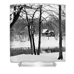 Home On The River Shower Curtain