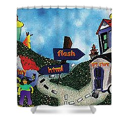 Home Page Shower Curtain