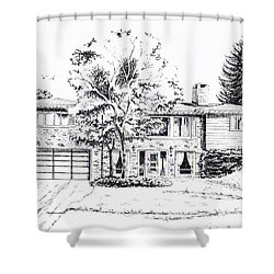Home Portrait Shower Curtain