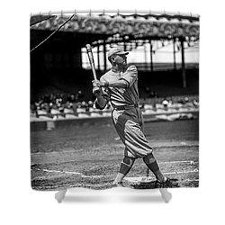 Home Run Babe Ruth Shower Curtain