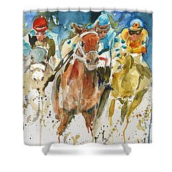 Home Stretch Shower Curtain by P Maure Bausch