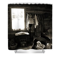 Shower Curtain featuring the photograph Home Sweet Home Bedroom by Joanne Coyle