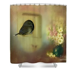 Home Sweet Home Shower Curtain by Brenda Bostic