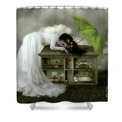 Home Sweet Home Shower Curtain by Shanina Conway