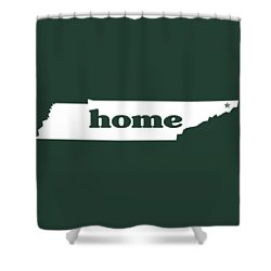 home TN on Green Shower Curtain by Heather Applegate