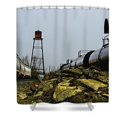 Home Town History Shower Curtain by Laura Ragland