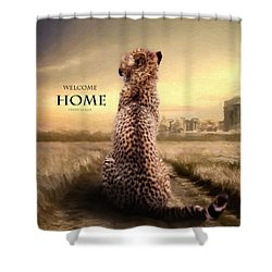 Shower Curtain featuring the photograph Home2 by Christine Sponchia