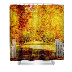 Shower Curtain featuring the photograph Homecoming by Wallaroo Images