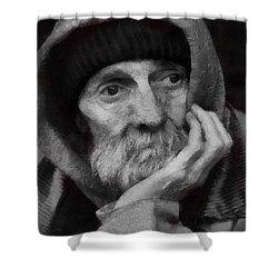 Homeless Shower Curtain by Gun Legler