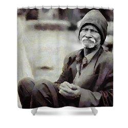 Homeless II Shower Curtain by Gun Legler