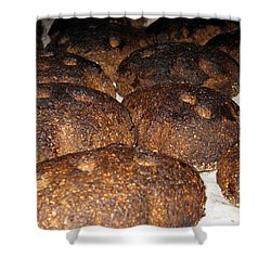Homemade Lithuanian Rye Bread Shower Curtain by Ausra Huntington nee Paulauskaite