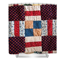 Homemade Quilt Shower Curtain