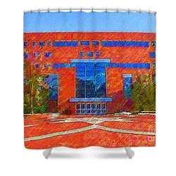 Homer Library Shower Curtain