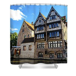Shower Curtain featuring the photograph Homes Of Bruges by Pravine Chester