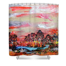 Homestead By Colleen Ranney Shower Curtain