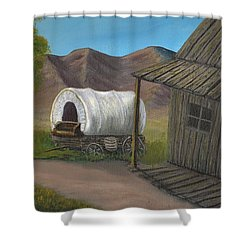 Homestead Shower Curtain by Sheri Keith
